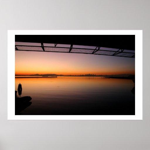 Sunset from Fantail of USS Hornet Poster