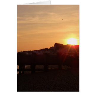 Sunset From Hastings Beach Card