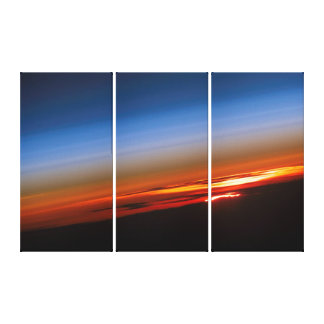 Sunset from International Space Station Canvas Print