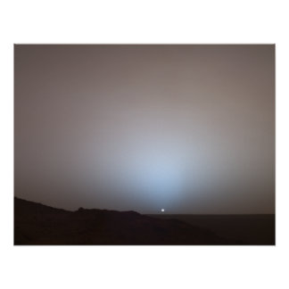 Sunset from Mars Poster