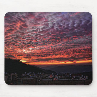 Sunset from Mount Herzl Mouse Pads