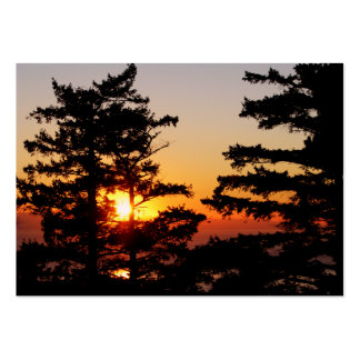 Sunset From Mt. Erie Large Business Cards (Pack Of 100)