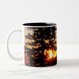 Sunset From Mt. Erie Two-Tone Coffee Mug