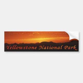 Sunset from Mt. Washburn Bumper Sticker Car Bumper Sticker
