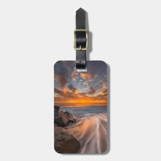 Sunset from Tamarach Beach Luggage Tag