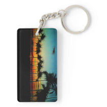 Sunset From The Car Keychain