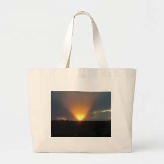 Sunset from the Monorail. Canvas Bags