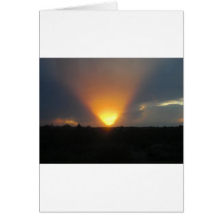 Sunset from the Monorail. Card