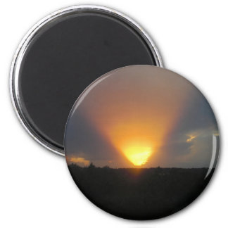 Sunset from the Monorail. 2 Inch Round Magnet