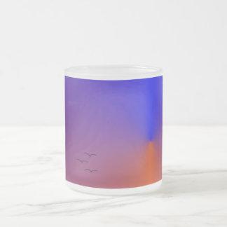 Sunset Frosted Glass Coffee Mug