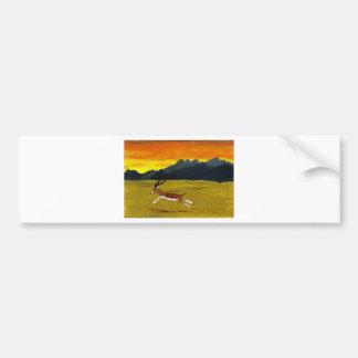 Sunset Gazelle wildlife art Bumper Sticker