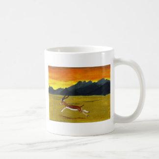 Sunset Gazelle wildlife art Basic White Mug