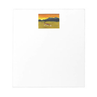 Sunset Gazelle wildlife art Note Pad