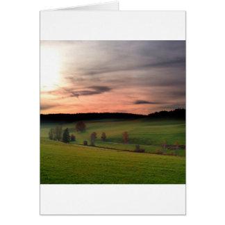Sunset German Field Of Dreams Card