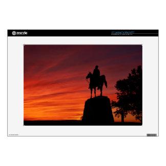 "Sunset - Gettysburg National Park - Meade Memorial Decals For 15"" Laptops"