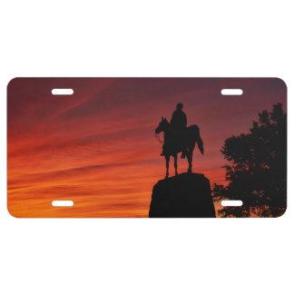 Sunset - Gettysburg National Park - Meade Memorial License Plate