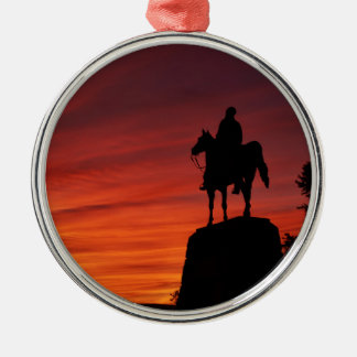 Sunset - Gettysburg National Park - Meade Memorial Metal Ornament