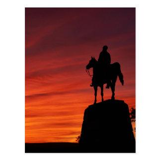Sunset - Gettysburg National Park - Meade Memorial Postcard