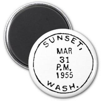 Sunset Ghostmark Fridge Magnet