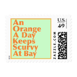 Sunset GivingsAn Orange A Day Keeps Scurvy At Bay Postage