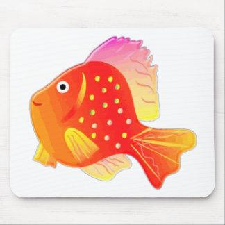 Sunset Glass Fish Mouse Pad