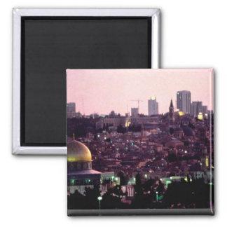 Sunset glow over Old City of Jerusalem, Israel Magnet