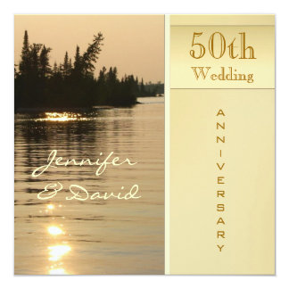 Sunset Golden Wedding Anniversary Invitation