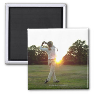 Sunset golf swing 2 inch square magnet