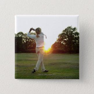 Sunset golf swing button