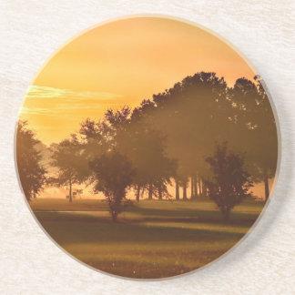 Sunset Golfers Dream Drink Coaster
