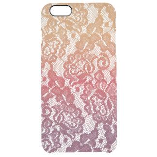 Sunset Gradient Lace Clear iPhone 6 Plus Case