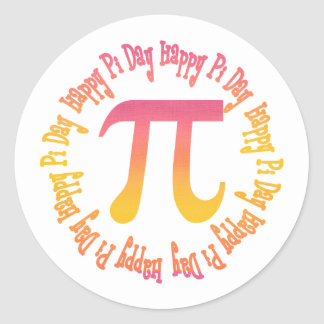 Sunset Gradient Pi Day Gifts and Tees Sticker