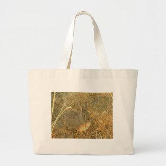 Sunset Grass Bunny Large Tote Bag