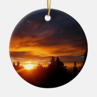 Sunset Gravity Archer Ceramic Ornament