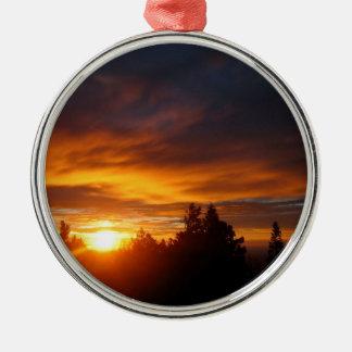 Sunset Gravity Archer Metal Ornament