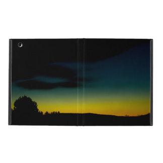 Sunset green-yellow iPad cover