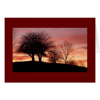 Sunset Greeting Card-Blank Card