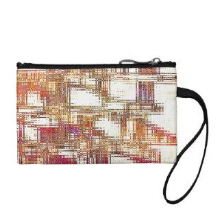 Sunset Grid Key Coin Clutch