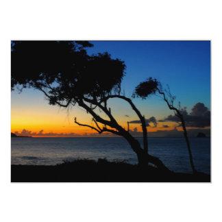 Sunset, Guadeloupe Card