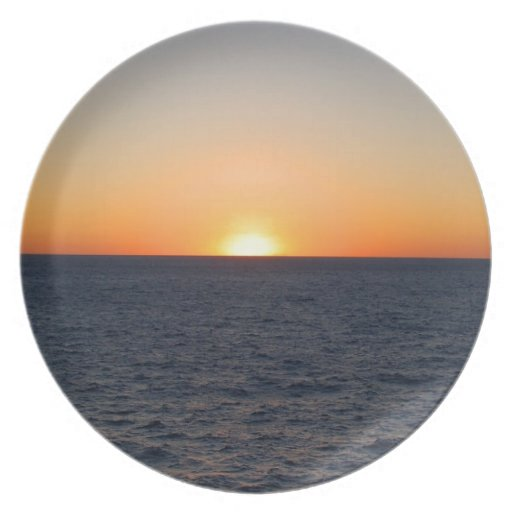 Sunset Gulf Party Plates