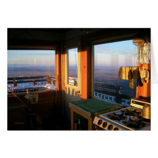 Sunset, Hager Mountain Fire Lookout Card