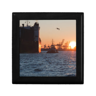 Sunset Hamburg Harbour Gift Box