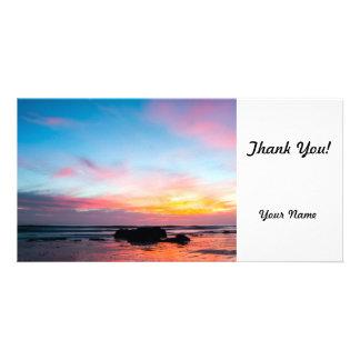 Sunset Handry s Beach Personalized Photo Card