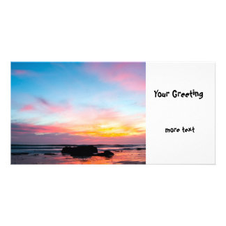 Sunset Handry s Beach Photo Card Template