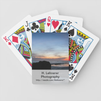 Sunset Handry's Beach Bicycle Playing Cards