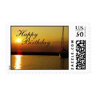 Sunset Happy Birthday stamps