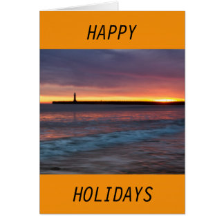 Sunset Happy Holiday Card