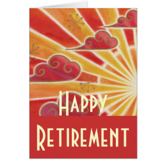 Sunset 'Happy Retirement' card