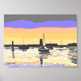 Sunset Harbour Print