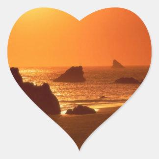 Sunset Harrisbrookings Oregon Heart Sticker